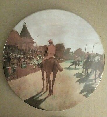 """New vintage 8"""" Monet trivet hot plate made in Italy by Design Imports"""