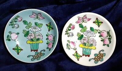 Two (2) vintage hand painted dishes made for The Adolphus