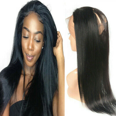 Bresilien Remi Human Hair 360 Full Lace Frontal Closure Lisse Straight Free Part