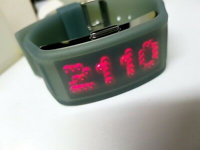 Zeon Tech Dot Matrix 70's Style LED/LCD Rare Old Vintage Watch New Old Stock