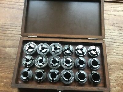 "BALAS C6 FLEXI-GRIP Chuck & Collets 18pc Set wooden box 9/32"" to 47/64"" NR"