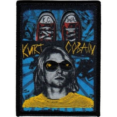 Kurt Cobain Embroidered Patch / Iron On Applique, Nirvana, Officially Licensed