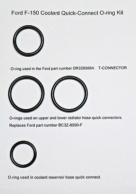 Replacement O-Rings - Ford DR-3Z8566-A, BC3Z-8590-F, & RESERVOIR HOSE