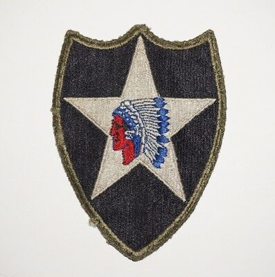2nd Infantry Division OD Border Patch WWII US Army P5951