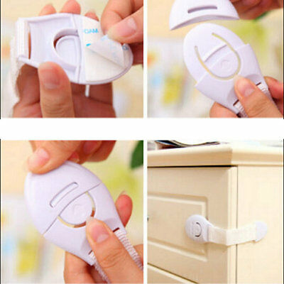 Infant Baby Kids Toddler Safety Fridge Drawer Door Cabinet Cupboard Locks  VC