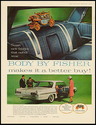 BODY BY FISHER makes it a better buy! Vintage Ad 1960's (101311)