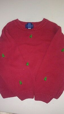 Boy Red Christmas Sweater Size 6