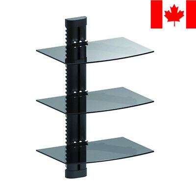 PrimeCables® Adjustable DVD Wall Mount 3 shelves for DVD players AV components
