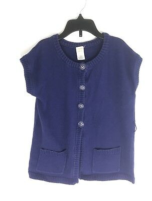 Gymboree Girl's Size Medium (7-8) 100% Cotton Blue Cardigan Sweater With Buttons