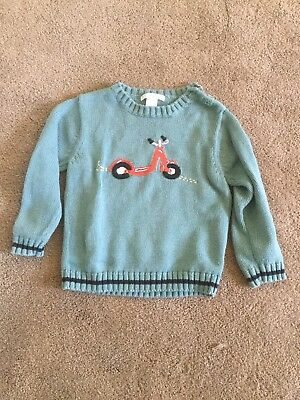 Janie And Jack Boys 3T Scooter Sweater EUC