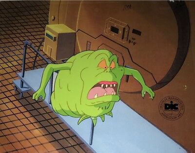 Real Ghostbusters SLIMER Original  Animation Production Art Cel DIC ENT