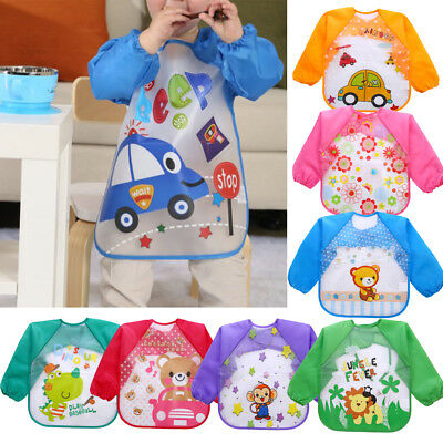 Baby Boy Girl Kids Bibs Waterproof Saliva Towel Cartoon Printed Feeding Bandana
