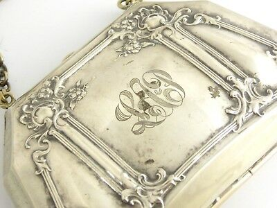 Antique Original 1900s Art Nouveau Silver Purse Steam Punk