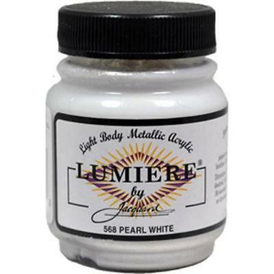Jacquard Lumiere Metallic Acrylic Paint-Pearlescent White-2.25oz