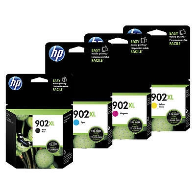HP 902XL T6M14AN T6M02AN T6M06AN T6M10AN Original Ink Cartridge Combo BK/C/M/Y