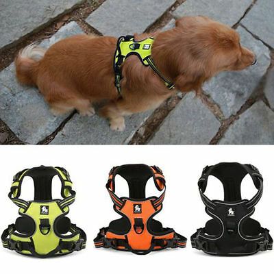 Heavy Duty No-pull Dog Pet Harness Reflective Outdoor Pet Vest Padded Handle 3M