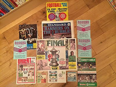 West Ham - 1980 Fa Cup Winning Campaign Programmes And Tickets