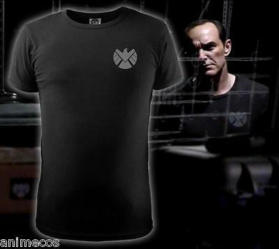 Agents of S.H.I.E.L.D Shield LOGO printed Black T-shirt Men's Tee Shirt