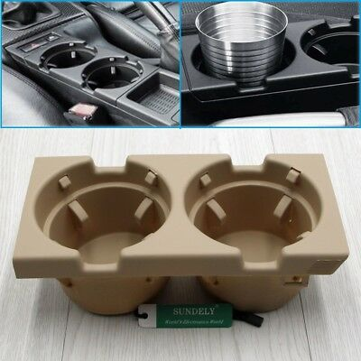 Front Center Console Cup/drinks Holder Beige For Bmw 3 Series E46 51168217953