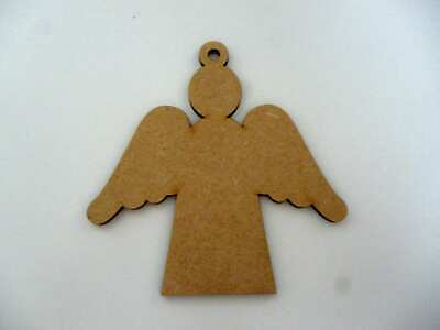 Wooden Christmas Baubles Mdf Xmas craft blank tag Decoration CFE204
