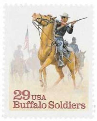 Buffalo Soldiers African American Cavalry Black Heritage Us Stamp Mint Condition