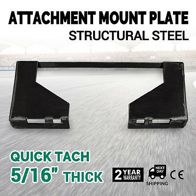 "5/16""  Quick Tach Attachment Mount Plate Concrete Breakers Universal Adapter"
