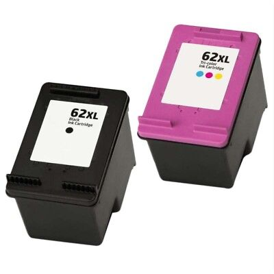 Remanufactured Twin Pack HP 62XL Black And HP 62 XL Colour Ink Cartridges