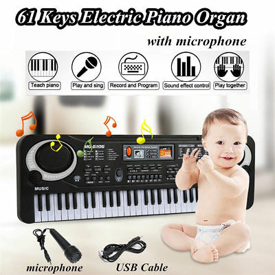 61 Key Digital Electronic Keyboard Electric Piano Organ with Microphone Kid Gift