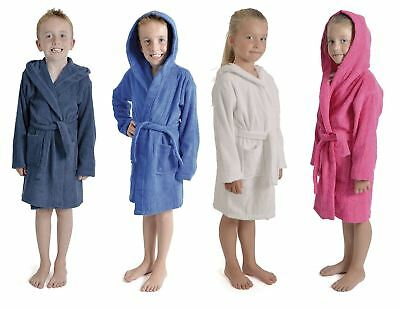 Boys Girls Kids Hooded Towelling Dressing Gown by Tom Franks