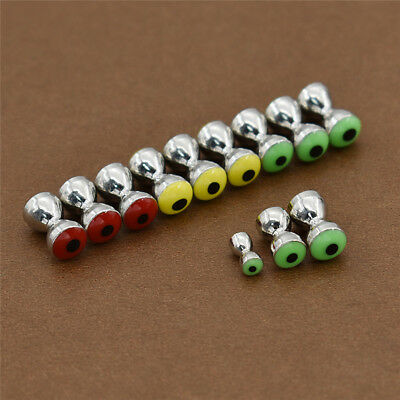Fly Tying Beads Eyes Fly Tying Materials 3.2MM/4.8MM/5.5mm Steel 10pcs / Lot