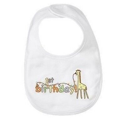 Gymboree Brand New Baby 1st Birthday Giraffe Bib 0 3 6 12 18 24 NWT