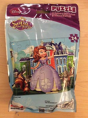 """Disney Jr.'s Sophia the first 24 piece puzzle 15 x 11.25"""" - NEW - Unopened"""