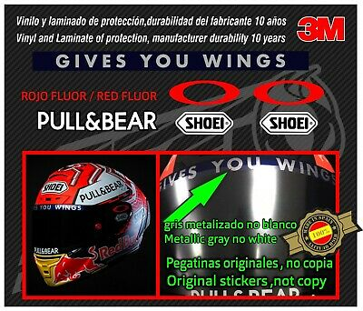 Decal-stickers-pegatinas-adesivi-ORIGINAL Visor for Marquez Helmet NEW 2017-2018