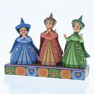 """Disney Traditions - New for 2018 - Three Fairies Figurine - """"Royal Guests"""""""