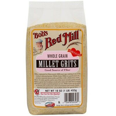 5 X New Bob's Red Mill Whole Grain Millet Grits Stone Ground Gluten Free Natural