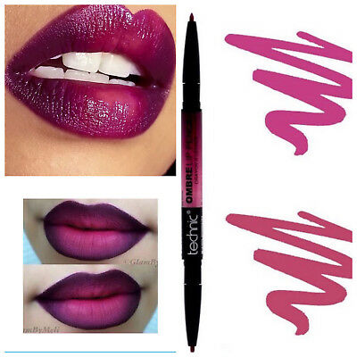 Plum OMBRE Technic Lip Liner Pencil Matte Lipstick Two Tone Dark Shades