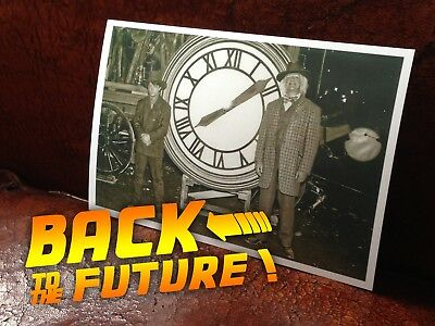 Photo CLOCK Back to the Future 3 bttf Movie Prop 1885 sepia Marty Doc hoverboard