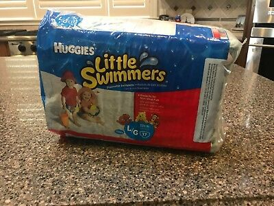 New Huggies Little Swimmers Finding Dory Diaper Swimpants-Large 32+LBs -17 Ct