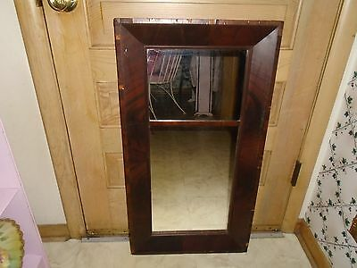 Vintage Antique Wall Mirror Hanging Solid Wood Ornate