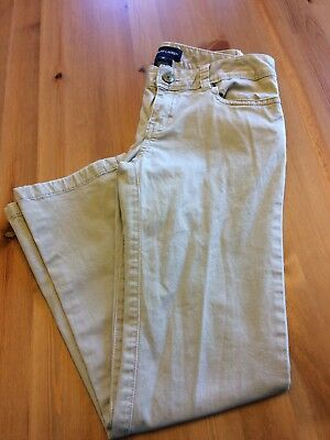 Girls Polo Ralph Lauren Khaki Chino Trousers, Pink Pony on Pocket, Size 10