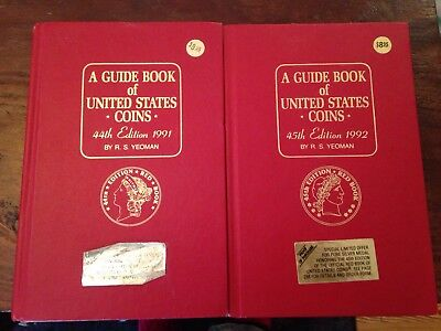 1991 & 92 TWO Red Books, A Guide Book of United States Coins Price Guide