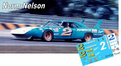 CD_795 #2 Norm Nelson   Plymouth Roadrunner  1:24 Scale Decals