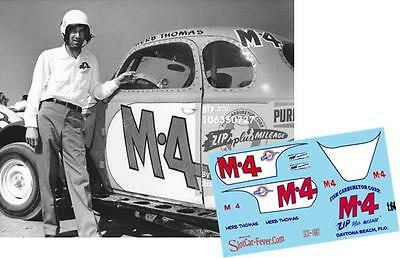 CD_1687 #M-4 Herb Thomas   Fish Carburetor '39 Plymouth 1:24 scale decals