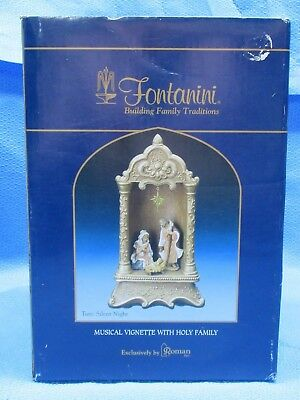 2007 Fontanini Musical Vignette With Holy Night #54596 NOS