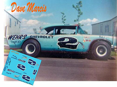 CD_1362 #2 Dave Marcis  1957 Chevy   1:24 scale decals
