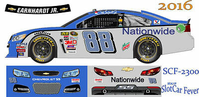 CD_2300 #88 Dale Earnhardt Jr. 2016 Nationwide Chevy    1:25 scale decals