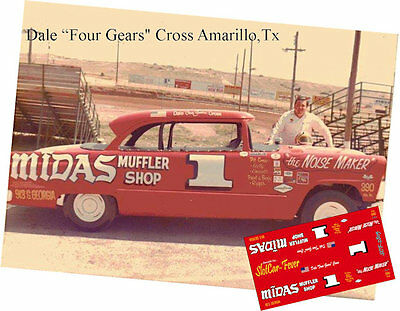 CD_2805 #1 Dale 'Four Gears'   1955 Ford  1:25 Scale Decals