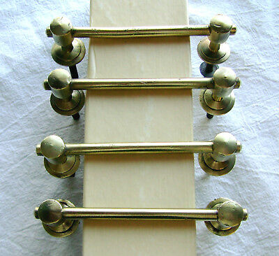 Set Of 4 Solid Brass Antique Cabinet / Drawer Pulls : Unique Style