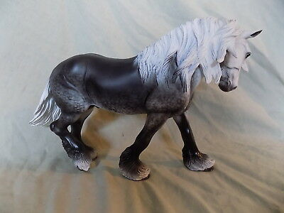 Breyer Horse Statue OOAK CM/Custom Draft Wintersong Dappled Gray