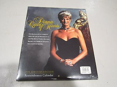 Princess Diana Calendar 1998 Limited Edition Remembrance Queen Of Hearts Sealed